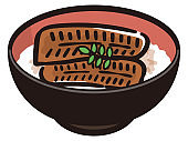 Grilled eel rice bowl, Eel Don