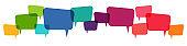 colored speech bubbles row