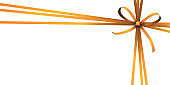 orange colored ribbon bow