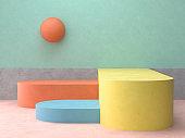 Platforms for product presentation , Geometric Shapes