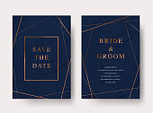 Vintage luxury vector wedding invitation card