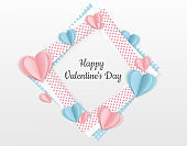 Valentines day background with Paper Heart. Can be used for Wallpaper, flyers, invitation, posters, brochure, banners.
