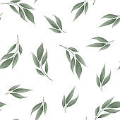Floral pattern. Plant texture for fabric, wrapping, wallpaper and paper.