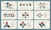 Six Marketing Charts Slide Templates Set