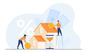 Tiny people buying house in debt