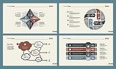 Four Business Charts Slide Templates Set