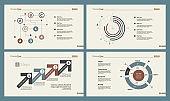 Four Analytics Charts Slide Templates Set