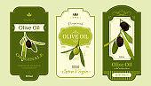 Olive oil label templates