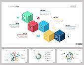 Four Marketing Slide Templates Set