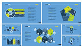 Seven Strategy Slide Templates Set