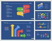 Six Economics Slide Templates Set