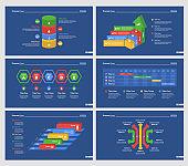Six Analytics Diagrams Slide Templates Set