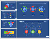 Six Statistics Charts Slide Templates Set