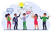 Business team communication