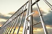 Chrome fence gate
