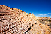Wavy rock formations in the Zebra spot Canyon Utah