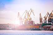 Admiralty Shipyard view in Saint Petersburg Russia