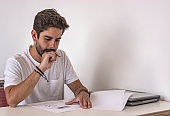 Brazilian university student taking school exams