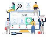 Job search vector concept flat style design illustration