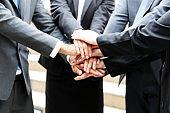 Close-up teamwork business handshake for work success concept.