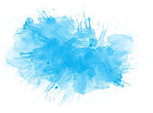 Abstract colorful brush watercolor illustration painting background.
