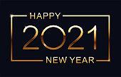 Luxury 2021 Happy New Year elegant design - vector illustration.