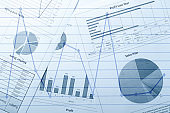 Documents and busines graphs, charts.Concept of marketing planning and analyzing