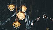 Hanging Rope Lamp home diy cheap Rustic Lamps, Wood Lamps, Rustic Lighting