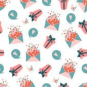 Cute seamless pattern fabric in modern style on white background. Modern vector illustration. Elegant abstract background. Vector nature graphic background. Holiday background. Elegant decoration