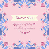 Decoration for romance invitation card, with beautiful leaf and pink wreath frame. Vector