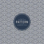 Japanese seamless wave pattern. Traditional Chinese texture. Oriental New Year background. Vector illustration