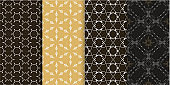 Vector seamless pattern /geometric / Set of background wallpaper in modern style