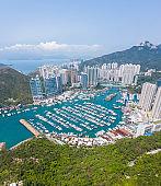 Aerial view of Aberdeen, Hong Kong, daytime, outdoor, Asia
