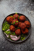 Traditional Middle eastern dish falafel