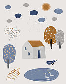 Nordic abstract landscape