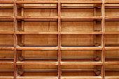Empty wooden closet