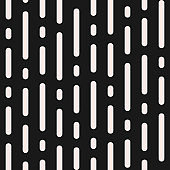Vector monochrome seamless pattern, vertical rounded lines