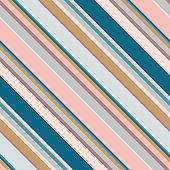 Diagonal stripes seamless pattern. Simple vector texture with oblique lines