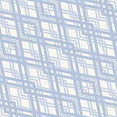 Vector abstract geometric seamless pattern. White and light blue grid texture