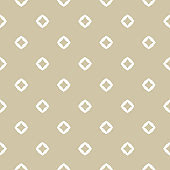 Golden diamonds seamless pattern. Subtle vector minimalist geometric texture