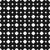 Polka dot seamless pattern, vector subtle texture, big and small circles