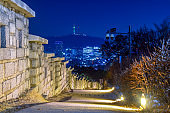 Seoul Naksan Park Night View