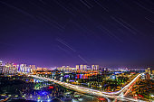 City night scenes and star trails