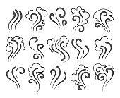 Smoke doodle icons