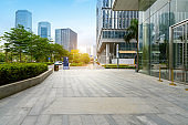 Empty floor and modern office building ,shenzhen,china