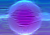 Neon lines background with glowing 80s new retro vapor wave style