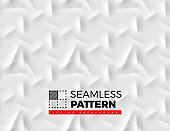 Seamless pattern with abstract lines made from shadows and lights