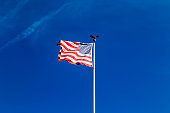 The American flag in the sky. Happy 4th of July USA Independence Day