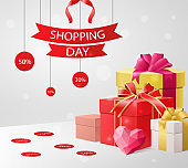 Shopping Day with a bargain sale and discounts