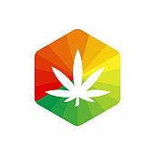 Cannabis leaf  design template